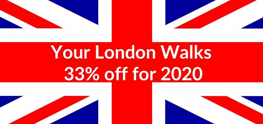 Staycation Deal – 33% off London Walks for 2020